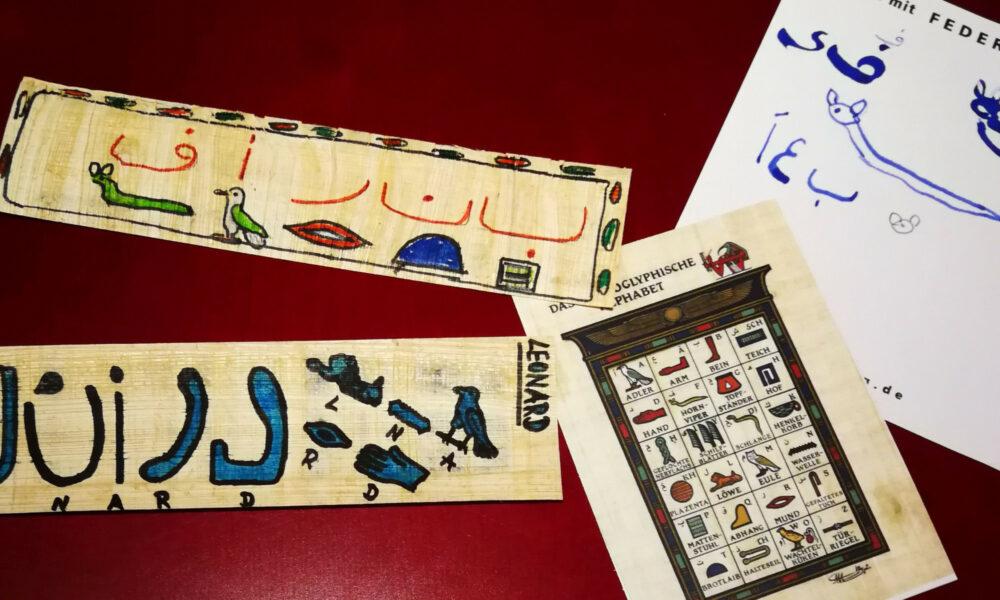 Hieroglyphen-Werkstatt im Museum für Kommunikation Nuernberg