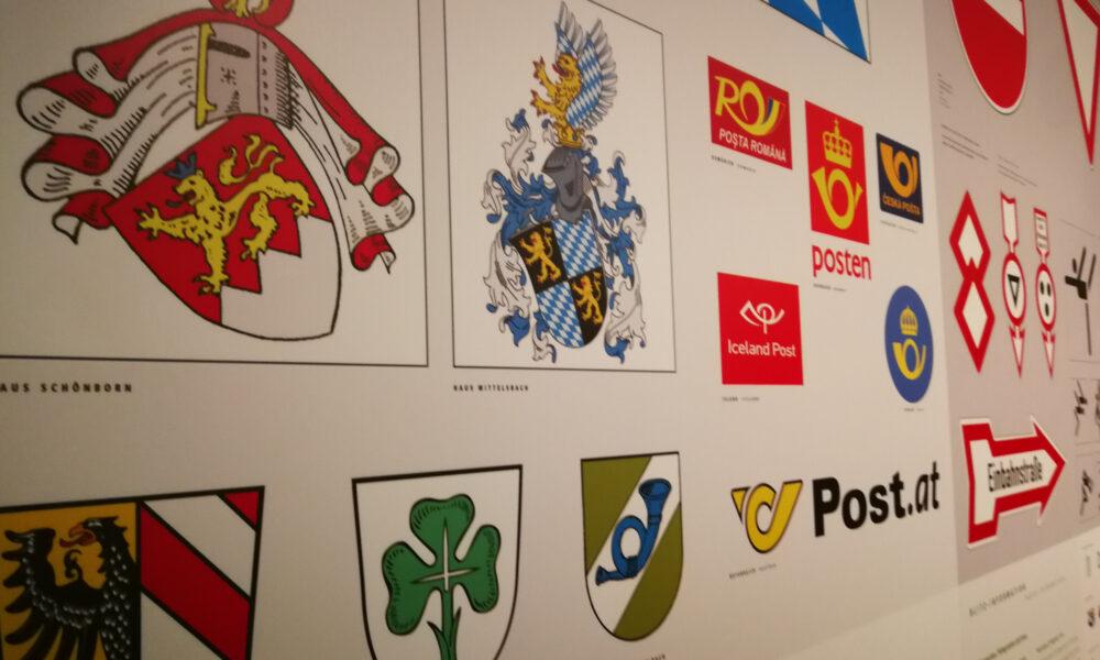Logo-Wand, Museum für Kommunikation Nürnberg