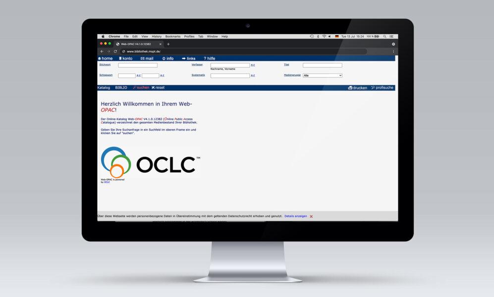 Der elektronische Bibliothekskatalog (OPAC) ermöglicht den Zugriff auf die Literatur und den Medienbestand.