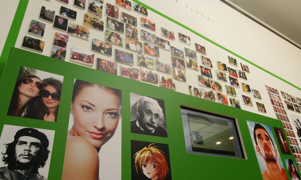 Selfie-Wand, Museum für Kommunikation Nürnberg
