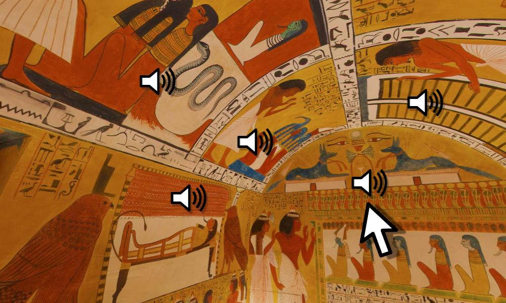Audio-Panorama zum Grab des Sennedjem
