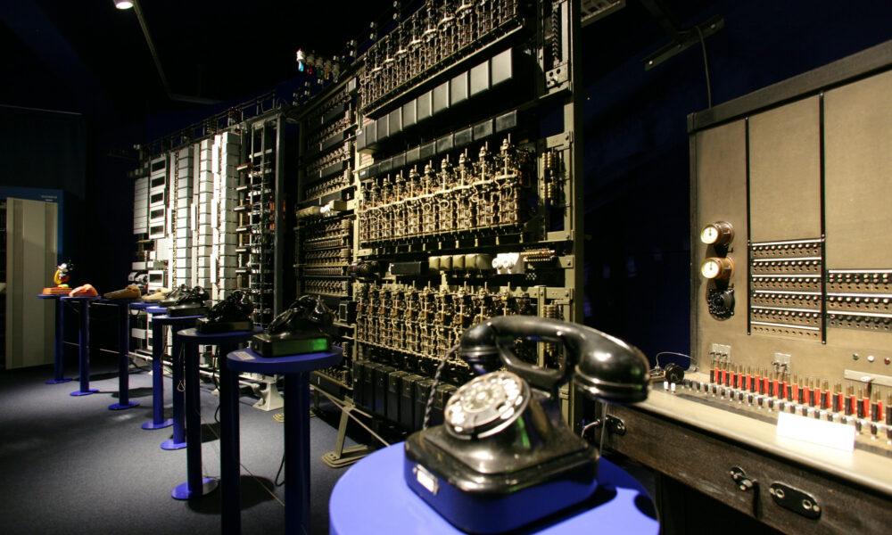 Ausstellungsbereich in der Abteilung Kommunikation mit Tönen.