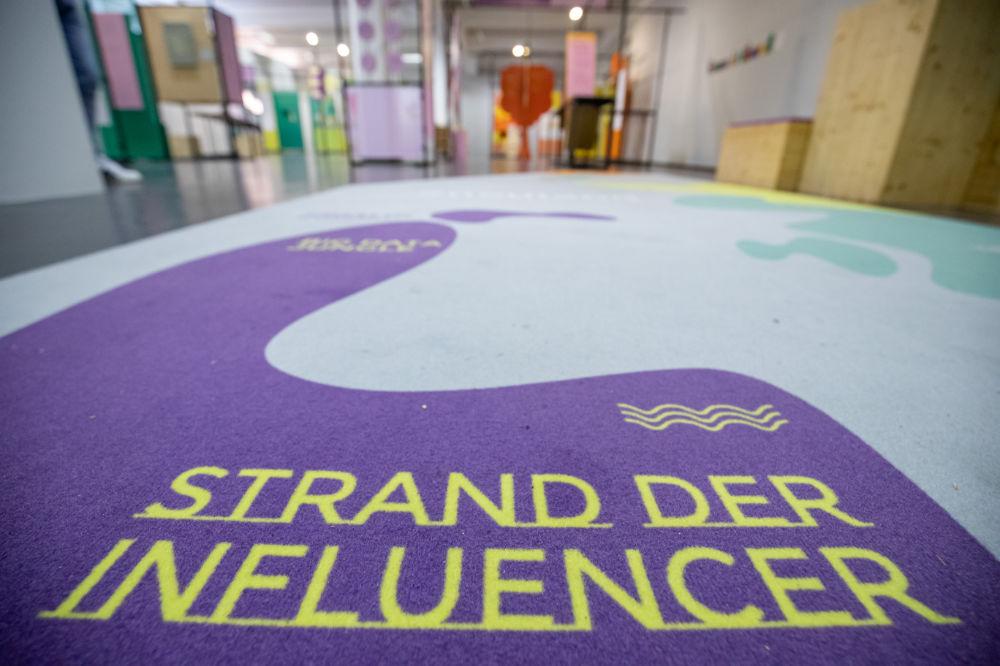 Blick in die Dialogroute zur Ausstellung #neuland