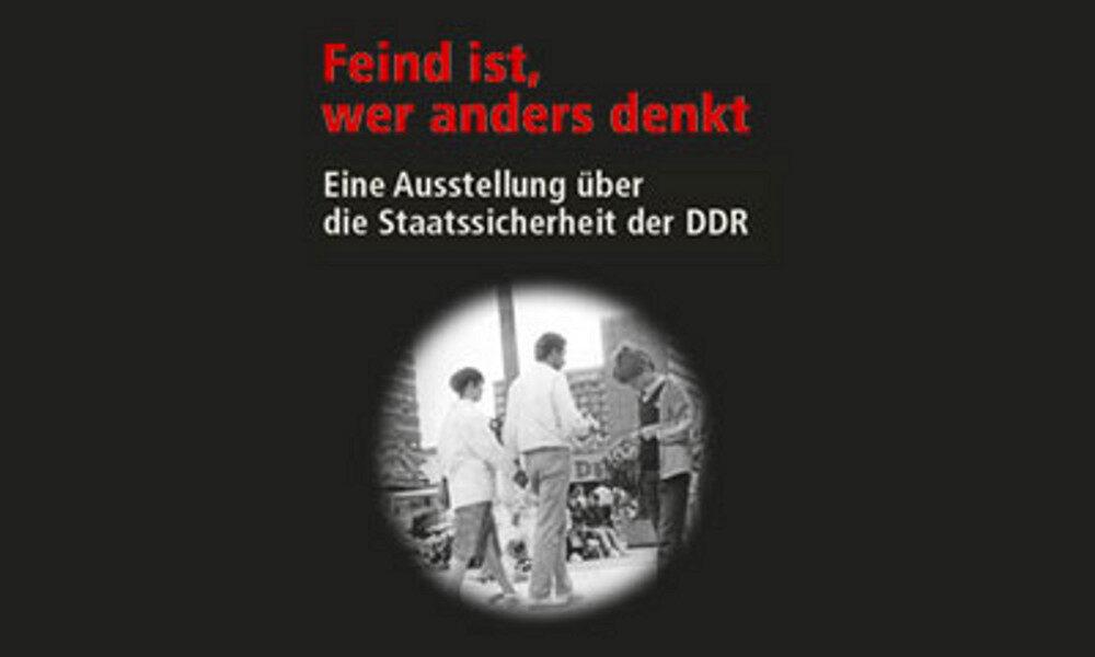 Feind ist der anders denkt Ausstellungsplakat Museum für Kommunikation Nürnberg